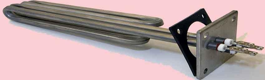 Resistencias blindadas para calentadores eléctricos. Es la que mejor se adapta a múltiples sistemas para calefactar. Se utilizan prácticamente en todos los procesos de calentamiento de algún fluido o gas
