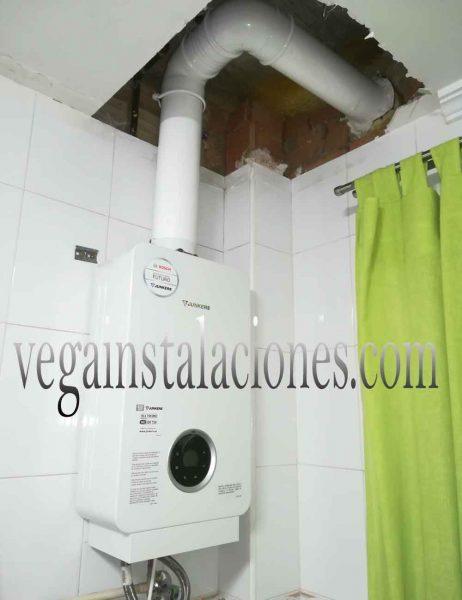 calentador estanco de gas instalado