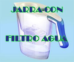 jarra con filtro de agua